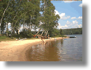 Doe Lake Beach, just a short distance from Sprucedale Ontario